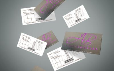 Image cartes de visite AB Studio coiffure rodange